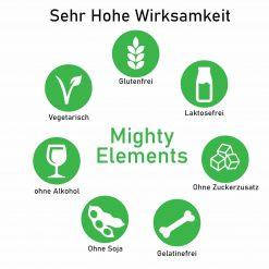 Mighty-Elements Wirksamkeit