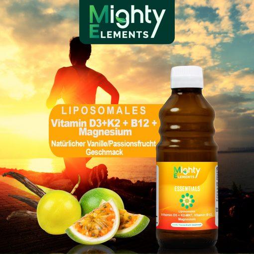 Essentials - liposomales Vitamin D3 K2 B12 Magnesium